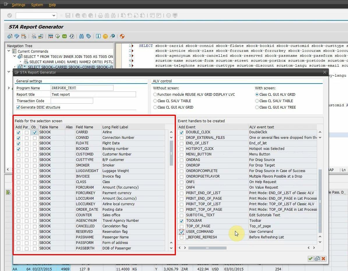 ABAP Report Generator - Create customizable ABAP reports