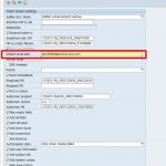 SAP customizing for email integration