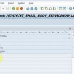 Email template in SAP