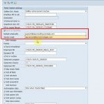 Configuration for the email interface in SAP