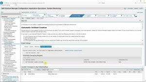 Configuration of Solution Manager